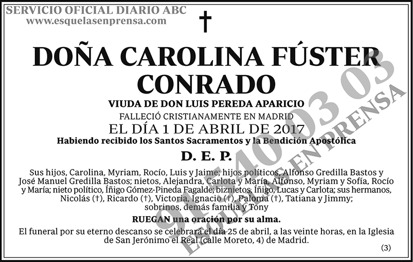 Carolina Fúster Conrado